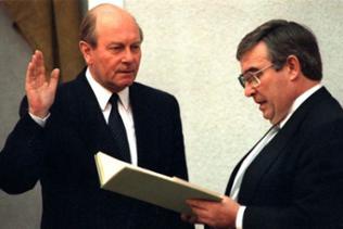 Carl-Ludwig Wagner wird als Ministerpräsident von Rheinland-Pfalz vereidigt