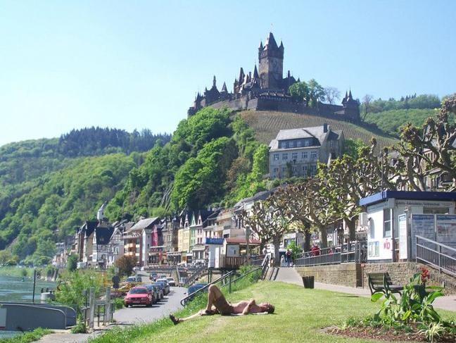 Klettersteig Pfalz : Calmont klettersteig ediger eller rheinland pfalz germany