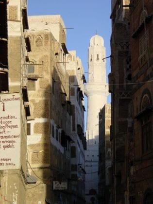 Blick durch die Straßen große Moschee
