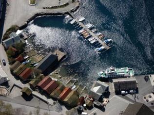 Geiranger Hafen von oben