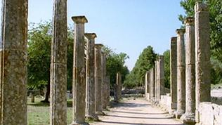 Palästra - dorische Säulen