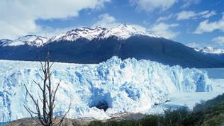 Nur aus großer Höhe könnte man die 350 Kilometer lange und 50 Kilometer breite Eismasse überblicken. Das Patagonische Eisfeld speist die 13 Gletscher im Nationalpark Los Glaciares.