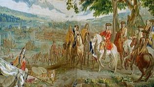 Morgennebel, Pulverdampf, 13. August 1704, Blindheim im bayerischen Donautal.