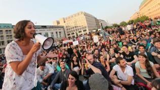 "Kundgebung ""Democracia Real Ya"" am Brandenburger Tor"