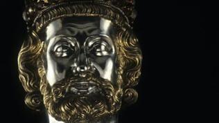 Metallkopf Karl der Große - Teil der Karlsbüste