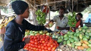 Markt in Ukunde bei Mombasa.