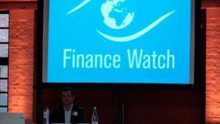 Mitgliederversammlung von Finance Watch in Brüssel. Die Organisation bildet ein Gegengewicht zur Finanzlobby.