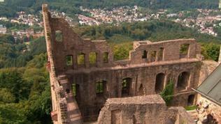 Altes Schloss Hohenbaden, mit Blick auf Baden-Baden.