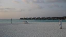 Blick auf Resort vom Strand aus