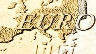 Euromünze in Nahaufnahme