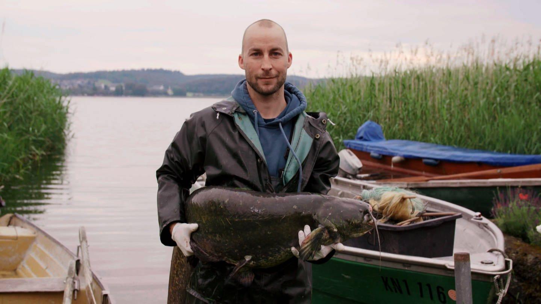 Urs ist einer der letzten jungen Fischer vom Bodensee (Foto: SWR)