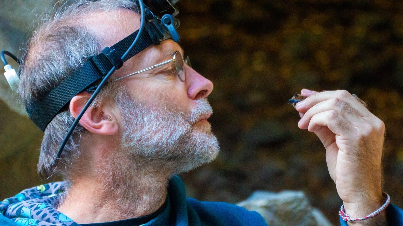 Fledermausforscher Andreas Kiefer in den Höhlen von Mayen. (Foto: SWR)