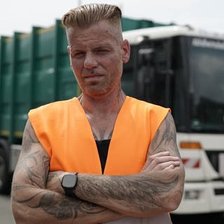 Maik ist Müllmann in Freiburg (Foto: SWR)