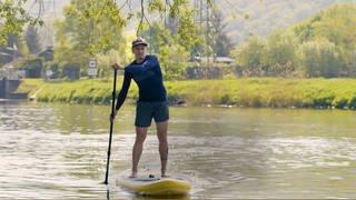 Stand Up Paddling auf der Lahn – Markus aus Fachbach lebt den Wassersport (Foto: SWR)