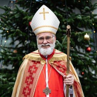 oachim Bradenbrink ist seit 1964 in Bendorf Nikolaus im Bischofsgewand. (Foto: SWR)