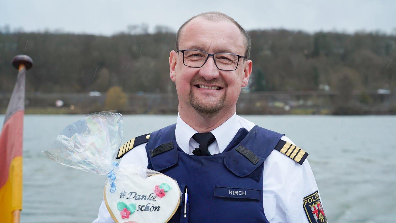 Jörg Kirch von der Wasserschutzpolizei Trier (Foto: SWR)
