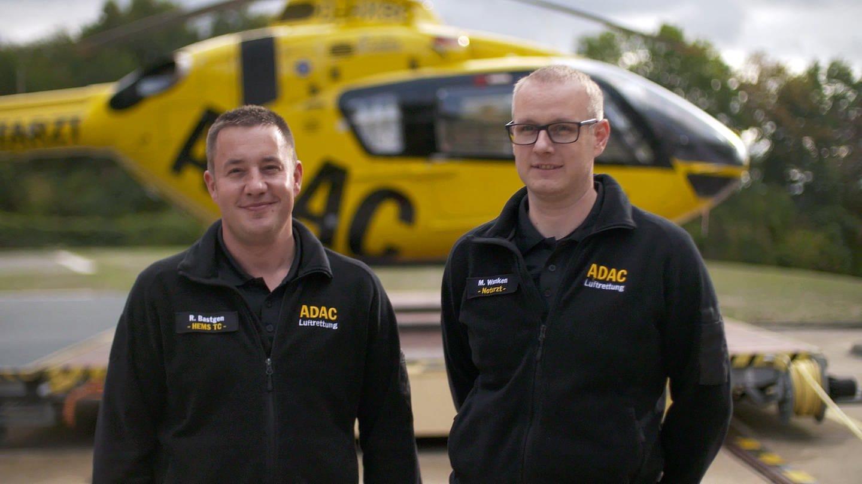 Notarzt Markus Wanken und Rettungssanitäter Ralf Bastgen vom Rettungshubschrauber Christoph 10 (Foto: SWR)