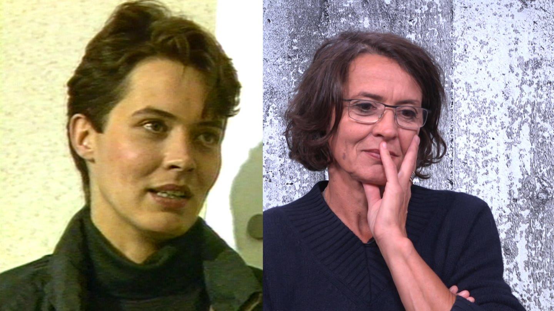 Eine Tatort-Kommissarin, 30 Jahre Unterschied: Ulrike Folkerts alias Lena Odenthal 1989 und 2019 (Foto: SWR)