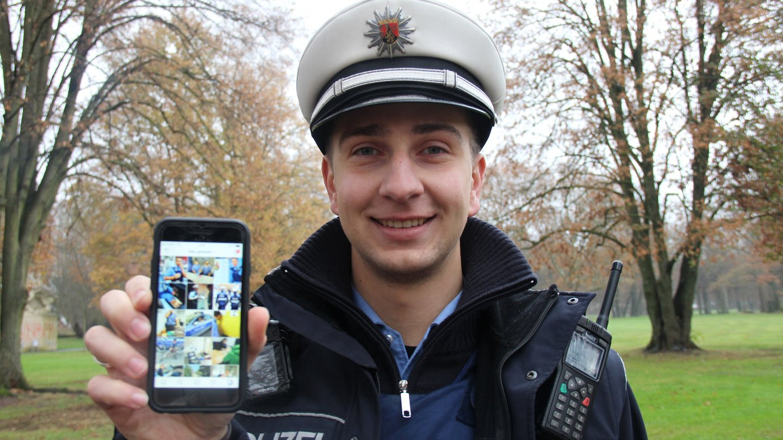 Polizist Felix zeigt auf Instagram als Instacop seinen Berufsalltag (Foto: SWR)