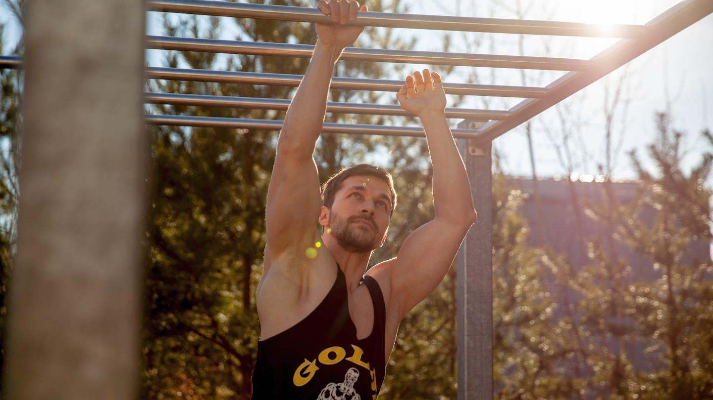 Veganer Athlet trainiert in Kaiserslautern. (Foto: SWR)
