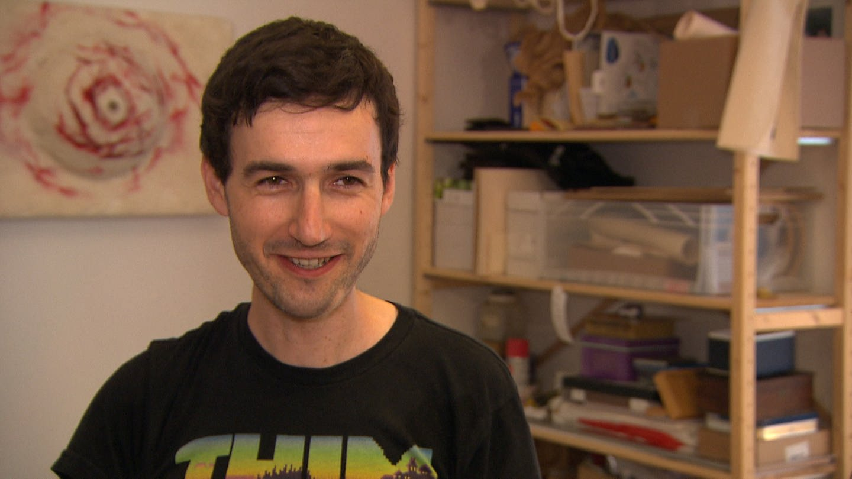 Origamikünstler Matthias Wiebel aus Mainz (Foto: SWR)