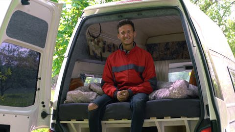 Matthias lebt im Camper Van (Foto: SWR)