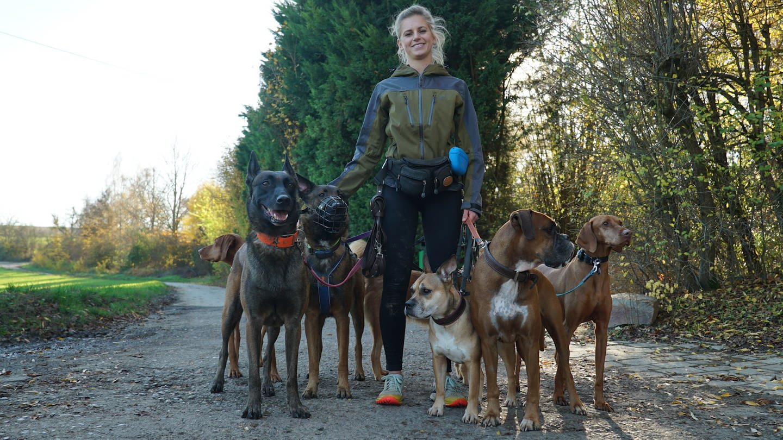 Lisa Kiebler hat einen Traumjob – beruflich mit Hunden Gassi gehen (Foto: SWR)