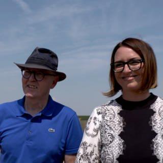 Leukämiepatient Manfred Stein und seine Stammzellspenderin Audrey Müller (Foto: SWR)