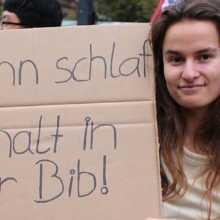 Studierende demonstrieren gegen Wohnungsnot in Mainz (Foto: SWR)
