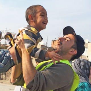 Serkan in einem Flüchtlingslager in Griechenland (Foto: SWR)