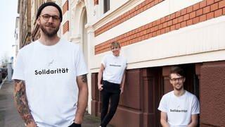 Marc mit Kollege David und Partnerin Conny  (Foto: SWR)