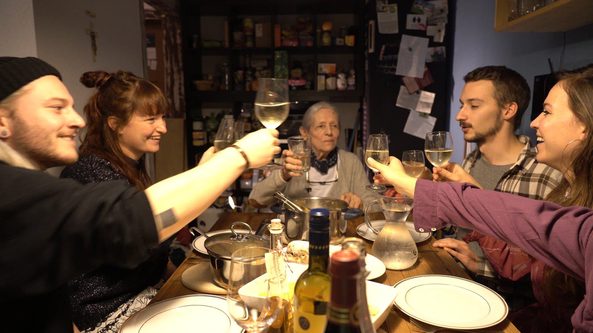 Ein gemütliches Abendessen in einer Stuttgarter WG