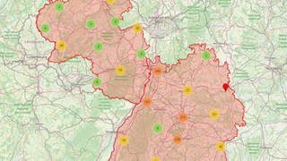 RADar!-Karte mit Meldungen der Nutzer*innen zu Gefahrenstellen im Radverkehr - SWR Mitmachaktion #besserRadfahren (Foto: SWR)