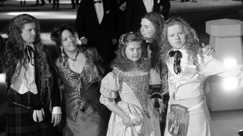 Das Bild zeigt die Kelly Family 1998:  John, Kathy, Barby, Paddy und Angelo Kelly.