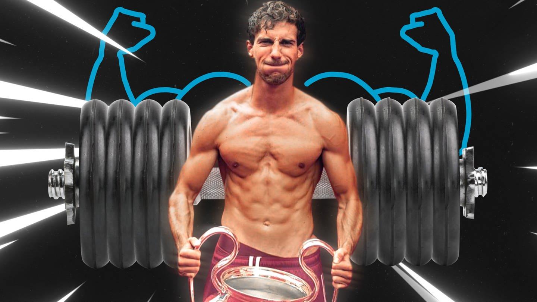 Muskelbepackter Modellathlet: Bayern-Profi Leon Goretzka (Foto: SWR)