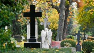 Friedhof im Herbst (Foto: dpa Bildfunk, Picture Alliance)