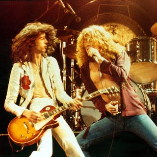SWR1 Musik Klub Rock mit Led Zeppelin (Jimmy Page and Robert Plant, 1976) (Foto: Imago, imago images / Everett Collection)