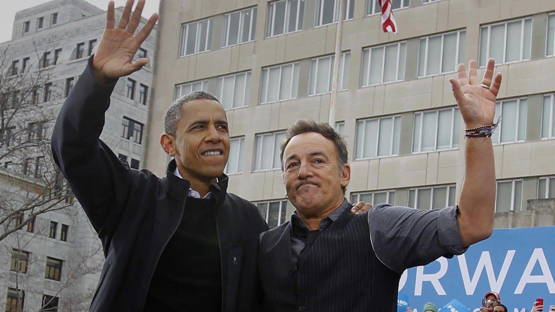 Barack Obama und Bruce Springsteen (Foto: picture-alliance / Reportdienste, ZUMAPRESS.com | Rick Wood)