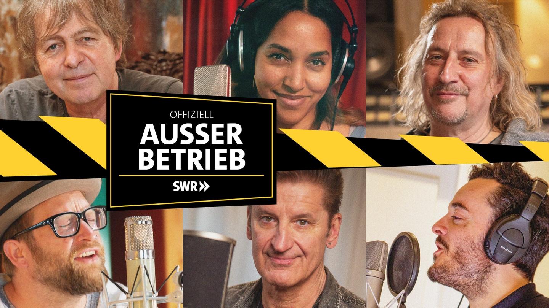 Die SWR Allstars: Casandra Steen, Dieter Thomas Kuhn, Gregor Meyle, Giovanni Zarrella, Hartmut Engler, Peter Freudenthaler