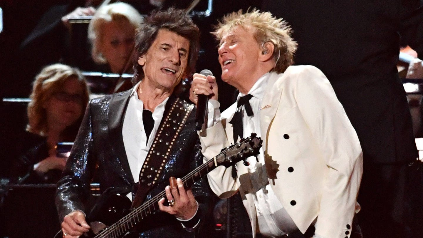 Rod Stewart und Ronnie Wood (Foto: Imago, PA Images)
