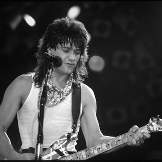Eddie Van Halen Rosemont, Illinois. April 22,1986. (Foto: picture-alliance / Reportdienste, picture alliance / Gene Ambo/MediaPunch)