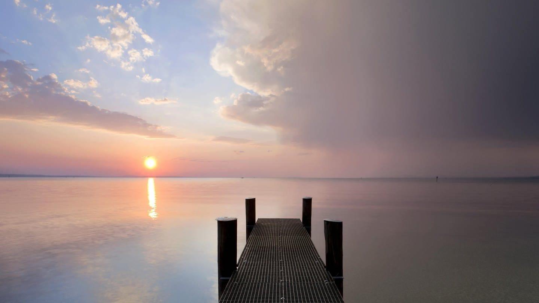 Bodensee im Abendlicht (Foto: picture-alliance / Reportdienste, imageBROKER)