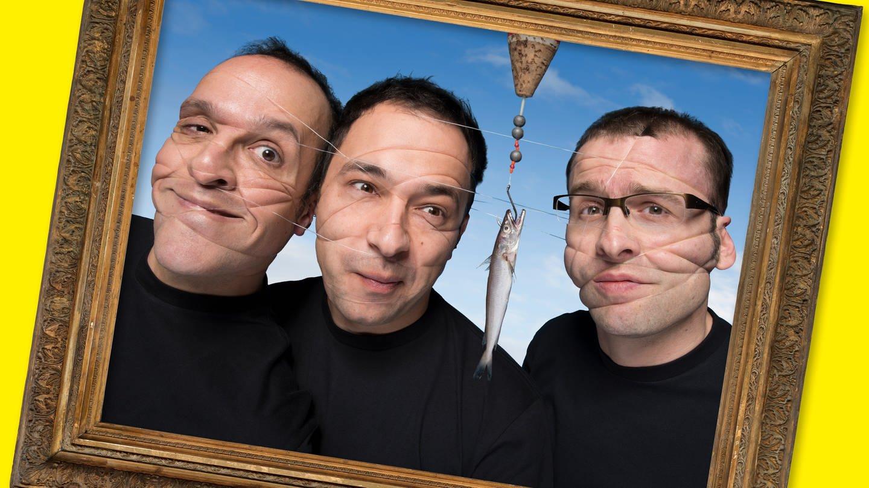 Das Foto zeigt die drei Mitglieder des Comedian-Ensembles