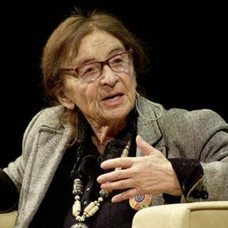 Agnes Heller, Philosophin, bei einer Podiumsdiskussion in Wien, 2017 (Foto: picture-alliance / dpa, picture-alliance / dpa -)