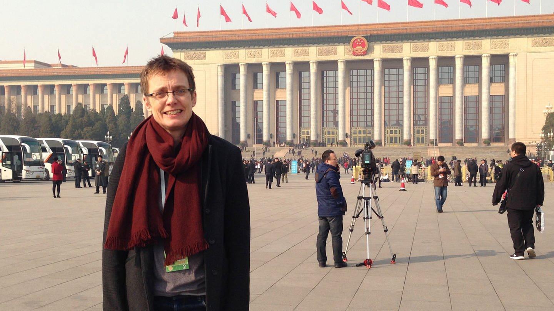 Ruth Kirchner, die Große Halle des Volkes am Platz des Himmlischen Friedens, zu Beginn des jährlichen Volkskongresses im März 2015