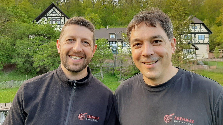 Felix Bader (l.) und Tobias Merckle (r.), Leiter und geschäftsführender Vorstand Seehaus e.V.