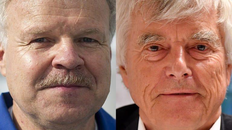 Reinhold Ewald und Ulf Merbold, Physiker und Astronauten (Foto: dpa (Merbold) und Jonas Güttler (Ewald))