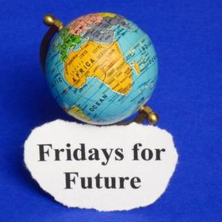 "Globus mit Slogan ""Fridays for Future"" (Foto: SWR, dpa/picture-alliance - Sascha Steinach)"