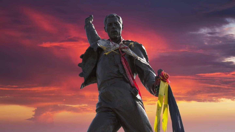 Statue von Freddy Mercury in Montreux