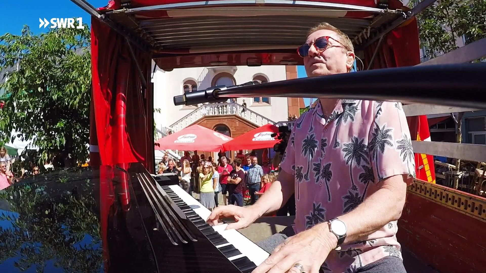 SWR1 Flashmob mit John Miles -
